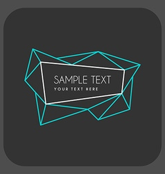 Abstract retro geometric line art decoration frame vector