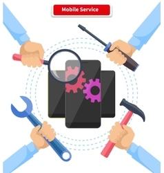 Concept mobile service repair gadgets vector