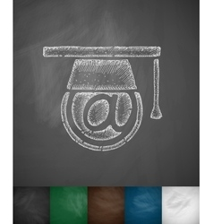Internet education icon vector