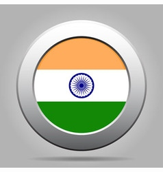 Metal button with flag of india vector