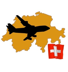 Fly me to the switzerland vector