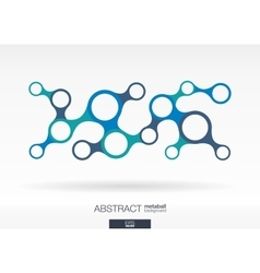 Abstract background with integrated metaballs vector