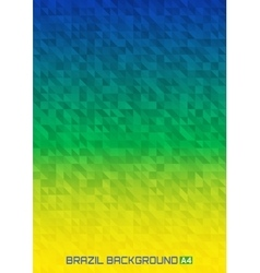 Geometric digital background brazil 2016 a4 size vector