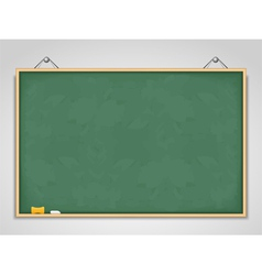 Big horizontal green blackboard vector