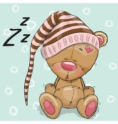 Sleeping cute Bear vector image