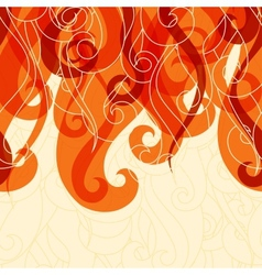 Abstract background hair curls and waves vector