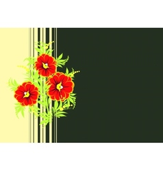 Abstract flowers branch with background vector image vector image