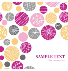 Abstract textured bubbles frame corner vector