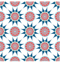 Arabic ornament geometric floral pattern textile vector