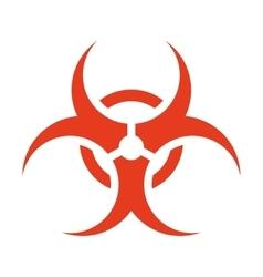 Biohazard symbol isolated icon vector