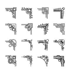 calligraphic corners vector image vector image