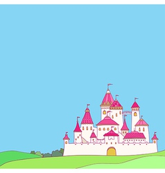 castle pink vector image