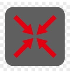 Center arrows rounded square button vector