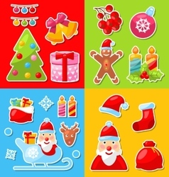 Christmas and Winter Celebration Traditional vector image vector image