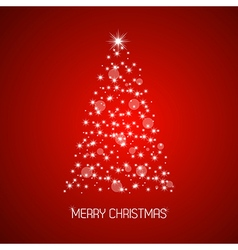 Christmas tree from stars Merry Christmas vector image vector image