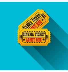 Cinema tickets flat design vector image vector image