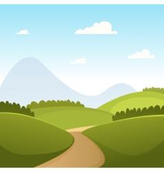 Countryside Cartoon Landscape vector image vector image