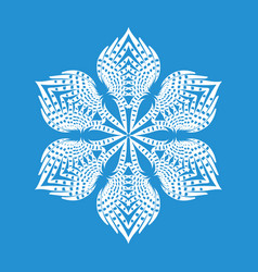 Figured snowflake icon simple style vector
