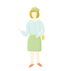 French woman vector