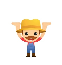 funny cartoon farmer vector image