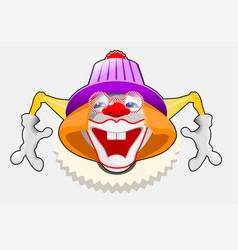 happy clown eps 10 vector image vector image