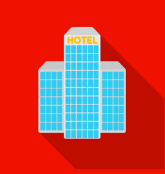 hotel building icon in flat style isolated on vector image