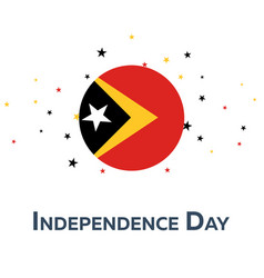 Independence day of timor-leste patriotic banner vector