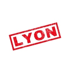 Lyon rubber stamp vector
