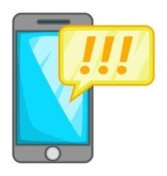 Mobile phone icon cartoon style vector
