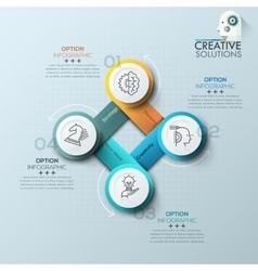 Modern spiral infographics options banner vector