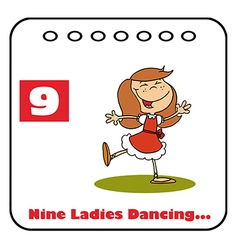 Nine ladies dancing vector