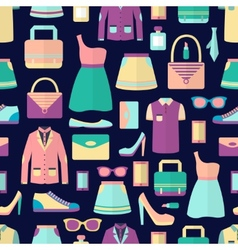 Shopping seamless pattern vector