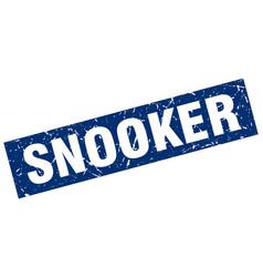 Square grunge blue snooker stamp vector