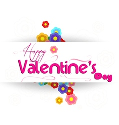 Valentines day with flower vector image