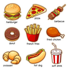 Vocabulary food vector