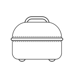 Icon of travel bag carry on baggage flat linear vector