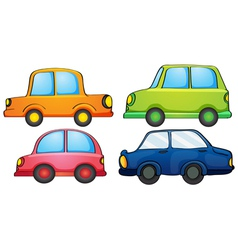 Different designs and colors of a transportation vector