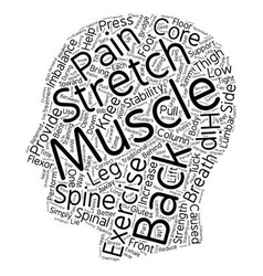 Exercise your back pain away text background vector