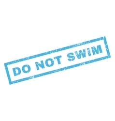 Do not swim rubber stamp vector