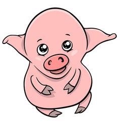 cute piglet cartoon character vector image