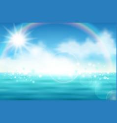 Beautiful sea view vector