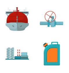 Tanker pipe stop oil refinery canister with vector