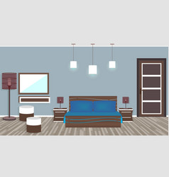 Modern living room in hotel in flat style vector