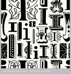 Seamless vintage pattern letter i vector