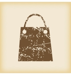 Grungy shopping bag icon vector