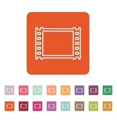 The film icon film symbol flat vector