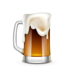 Beer glass isolated vector