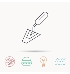 Spatula icon finishing repair tool sign vector