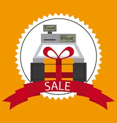 Sale and shopping design vector