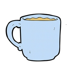 Comic cartoon coffee mug vector